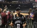 Футболист Ман Сити показал хип-хоп на матче НБА