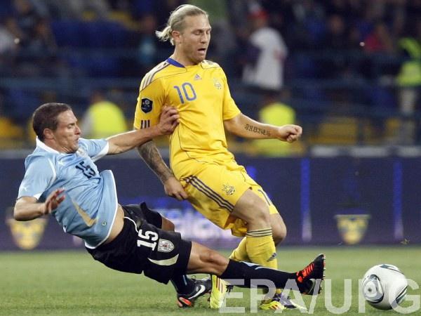 Андрей Воронин в составе сборной Украины
