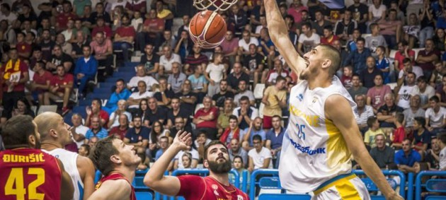 Украинские баскетболисты проиграли в Черногории