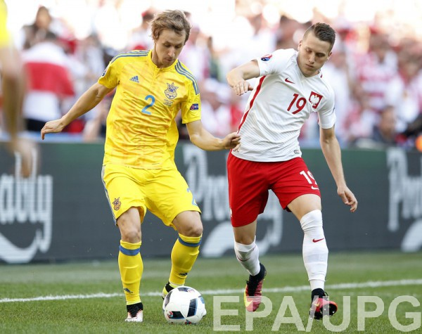 Бутко в матче с Польшей