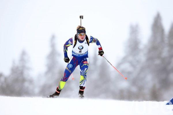 Мари Дорен-Абер в масс-старте первая