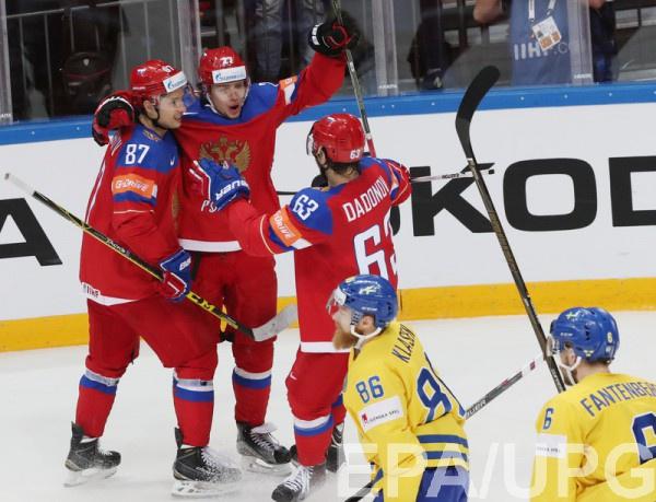 Сборная России уверенно побеждает шведов