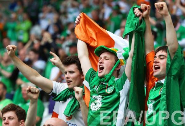 """Ирландские фанаты """"зажигают"""" на Евро"""