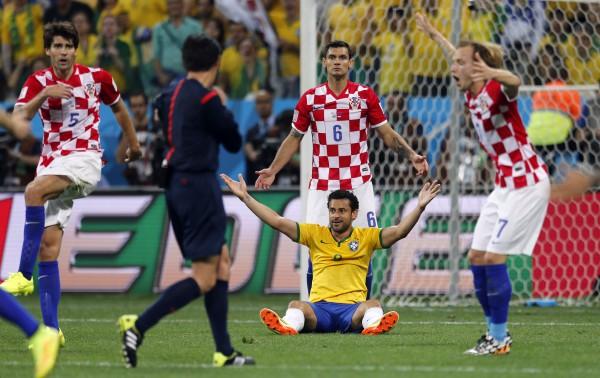 Ключевой эпизод матча Бразилия - Хорватия