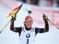 Биатлон: Дальмайер принесла Германии первое золото, Пидгрушная пятая