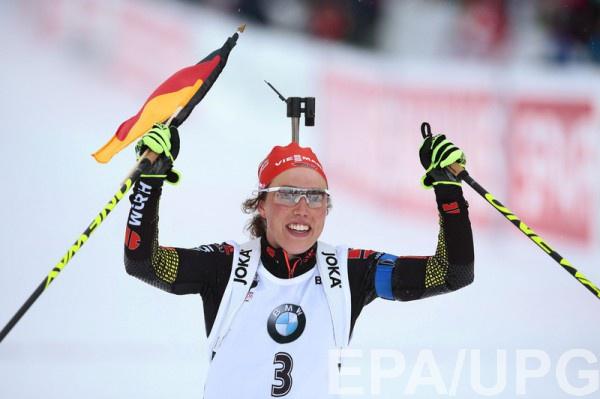 Лаура Дельмайер - победитель гонки преследования