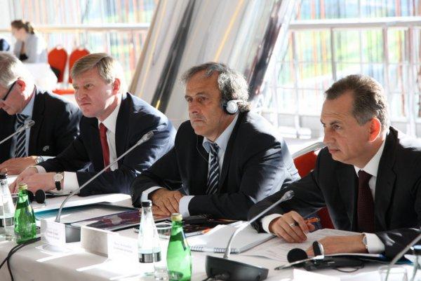 Рабочее заседание в пресс-центре Донбасс Арены