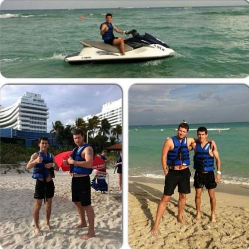Кравченко на пляже в Майами