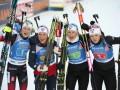 Биатлон: Норвегия выиграла эстафету в Хохфильцене, Украина - седьмая
