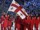 Грузинские Олимпийцы нашли в себе силы принять участие в церемонии