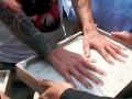 Из стены стадиона в Габоне украдена плита с отпечатками ладоней Месси