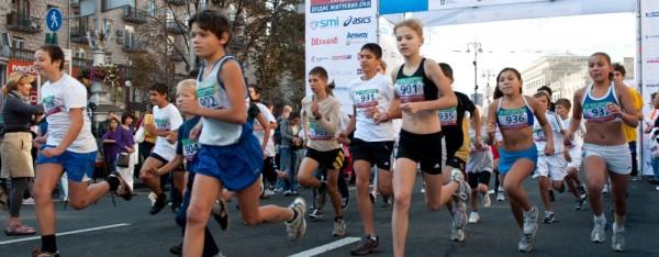 Участники киевского марафона