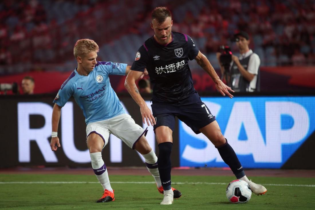 Александр Зинченко и Андрей Ярмоленко в матче между Ман Сити и Вест Хэмом