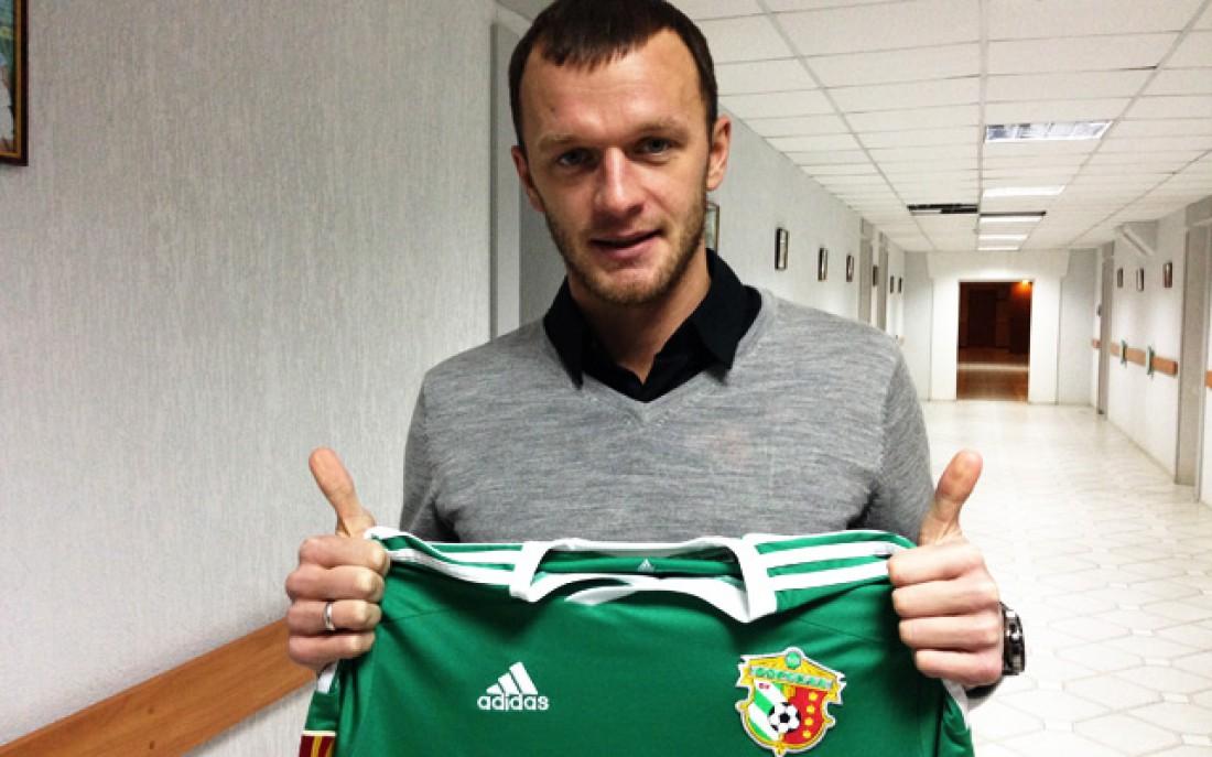 Алексей Довгий с футболкой полтавской Ворсклы
