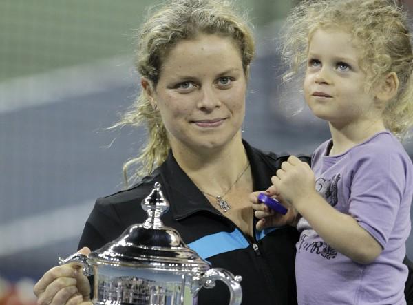 Ким Клийстерс и ее дочь Джада