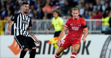 Партизан - АЗ 2:2 видео голов и обзор матча Лиги Европы