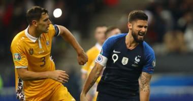 Франция - Молдова 2:1 видео голов и обзор матча квалификации на Евро-2020