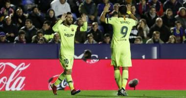 Леванте - Барселона 0:5 видео голов и обзор матча Ла Лиги
