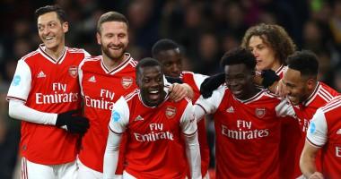 Арсенал - Ньюкасл 4:0 видео голов и обзор матча АПЛ