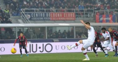 Болонья - Милан 2:3 видео голов и обзор матча чемпионата Италии