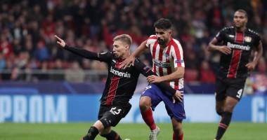 Атлетико - Байер 1:0 видео гола и обзор матча Лиги чемпионов
