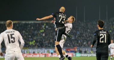 Партизан Белград - Виктория Пльзень 1:1 видео голов и обзор матча Лиги Европы
