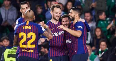 Реал Бетис - Барселона 1:4 видео голов и обзор матча Ла Лиги
