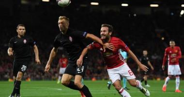 Заря - Манчестер Юнайтед 0:2 Видео голов и обзор матча Лиги Европы