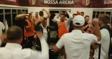 В Сети появилось видео из раздевалки Зари после матча с Брагой