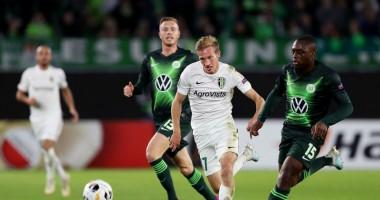 Вольфсбург - Александрия 3:1 Видео голов и обзор матча Лиги Европы
