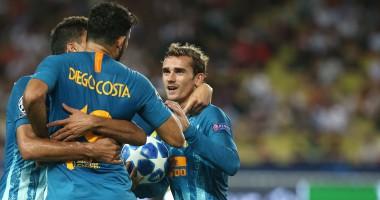 Монако - Атлетико 1:2 видео голов и обзор матча Лиги чемпионов