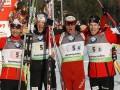 ЧМ по биатлону: Норвегия выиграла мужскую эстафету, Украина - восьмая