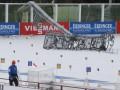 Биатлон: Стадион в России не устоял под ветром - масс-старты отменены