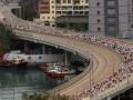В Гонконге марафонец упал замертво за 100 метров до финиша