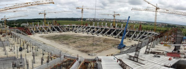 Стадион во Львове готов на 65%