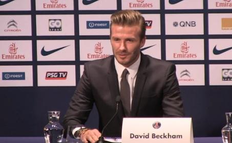 Дэвид Бекхэм на пресс-конференции