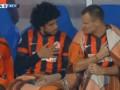 Бразилец Шахтера во время гимна заставил Шевчука положить руку на сердце (видео)