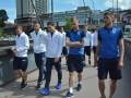 Игроки сборной Украины прогулялись по Тампере