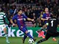 Барселона - Спортинг 2:0 видео голов и обзор матча Лиги чемпионов