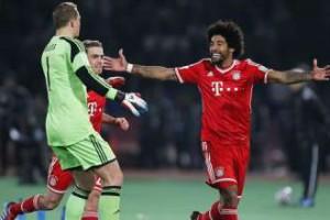 Игроки Баварии празднуют успех