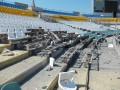Во время обстрела Луганска пострадал стадион Зари
