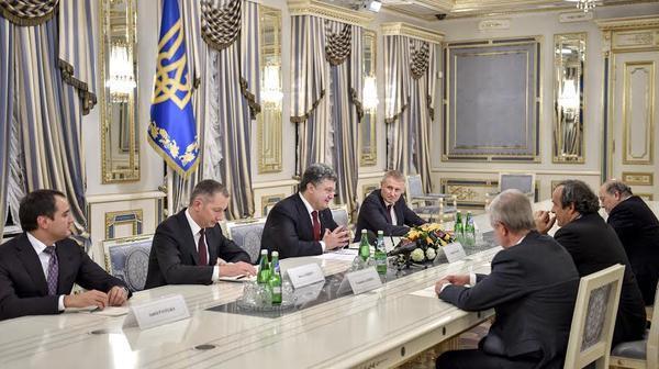 Встреча Петра Порошенко с Мишелем Платини