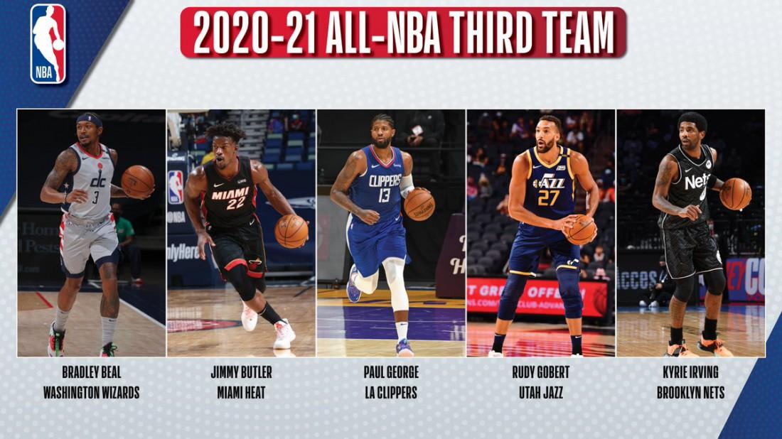 Третья символическая пятерка НБА сезона-2020/21