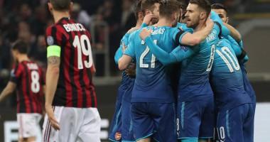 Арсенал уверенно обыграл Милан в Лиге Европы