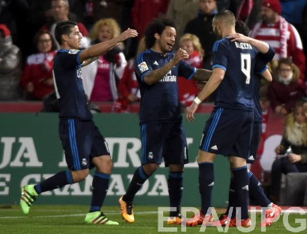 Реал обыграл Гранаду со счетом 2:1