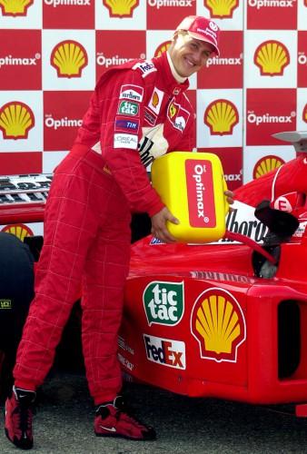 Михаэль Шумахер и его Ferrari