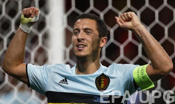 Эден Азар забил гол в матче с Венгрией