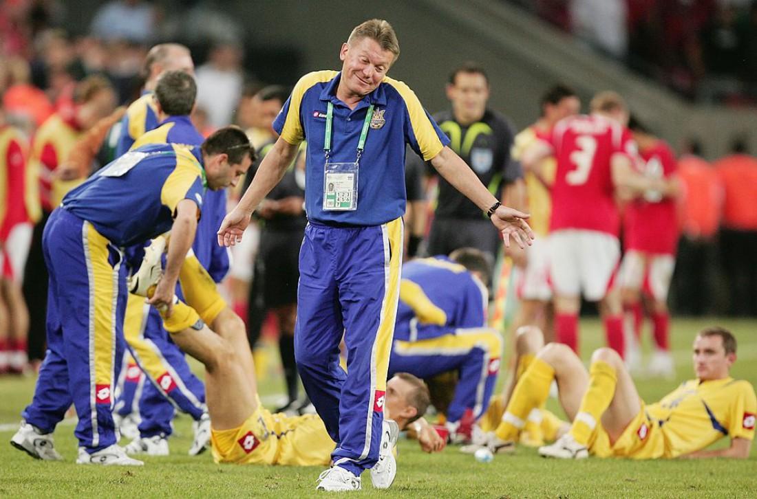 Олег Блохин в матче между Украиной и Швейцарией