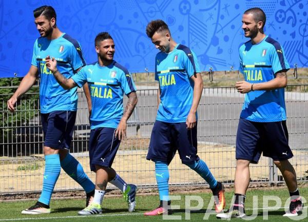 Италия - Испания: Стартовые составы команд