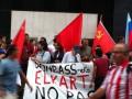 В Бильбао перед матчем Атлетик - Шахтер прошел митинг в поддержку ДНР (фото)